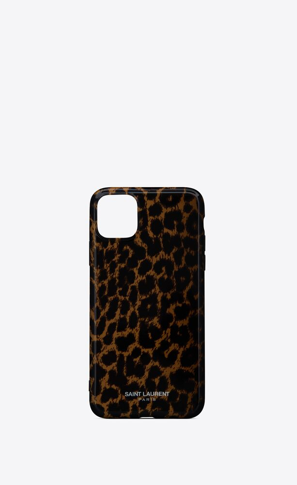 iphone 11 pro max case in leopard printed silicone