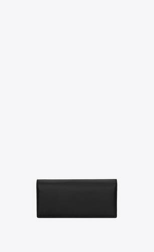 tiny monogram continental wallet in smooth leather