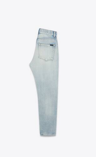 authentic jeans in serge light blue denim