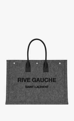rive gauche tote bag in felt and leather