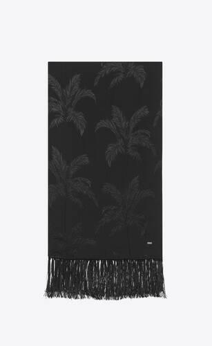 pañuelo de jacquard de seda con motivo de palmera