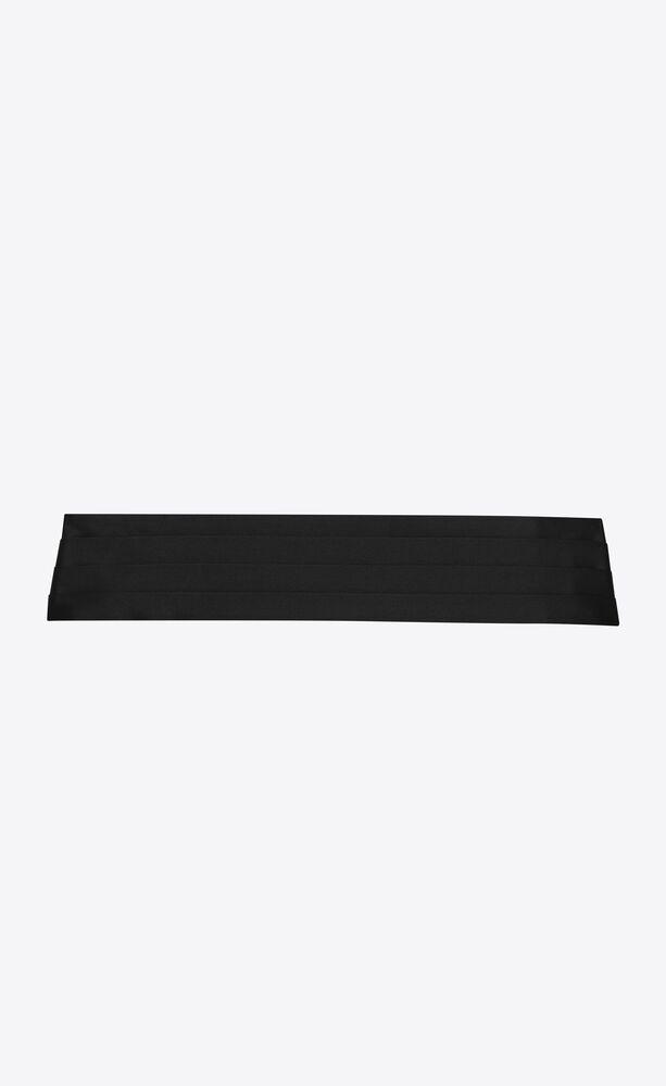 ceinture smoking cummerbund plissée en satin de soie