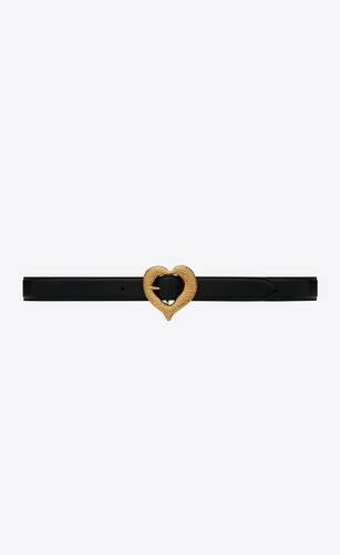 heart belt in lambskin