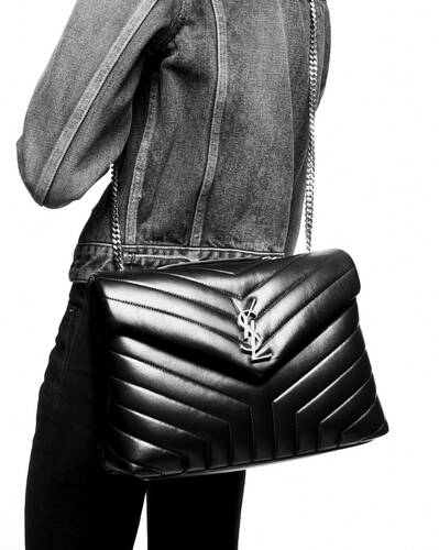 "loulou medium bag in ""y""-quilted leather"