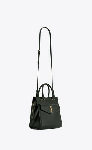 uptown small tote in shiny smooth leather