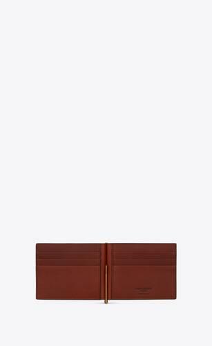 le monogramme bill clip wallet in saint laurent monogram canvas