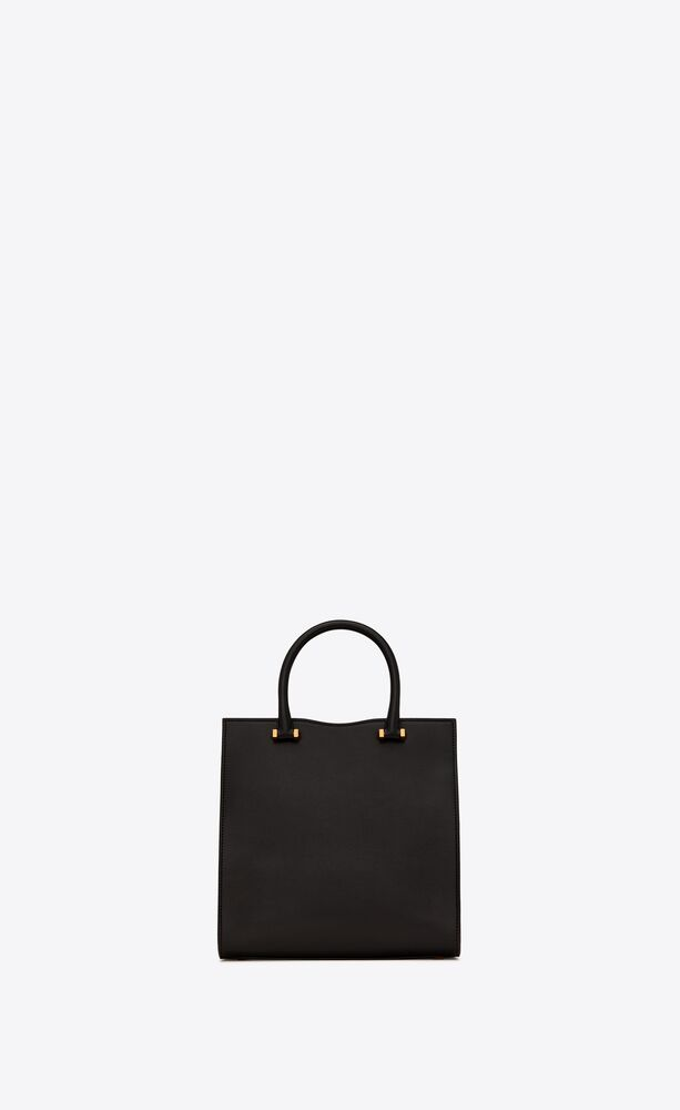 uptown small tote in grain de poudre embossed leather