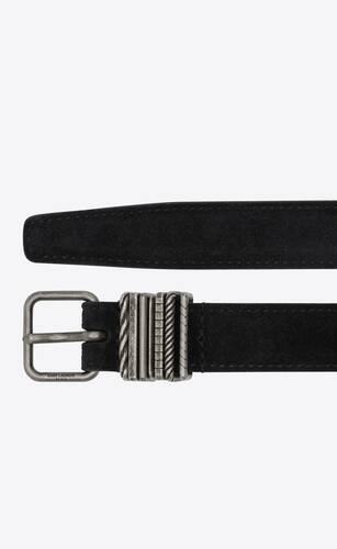 stacked-loop thin belt in suede