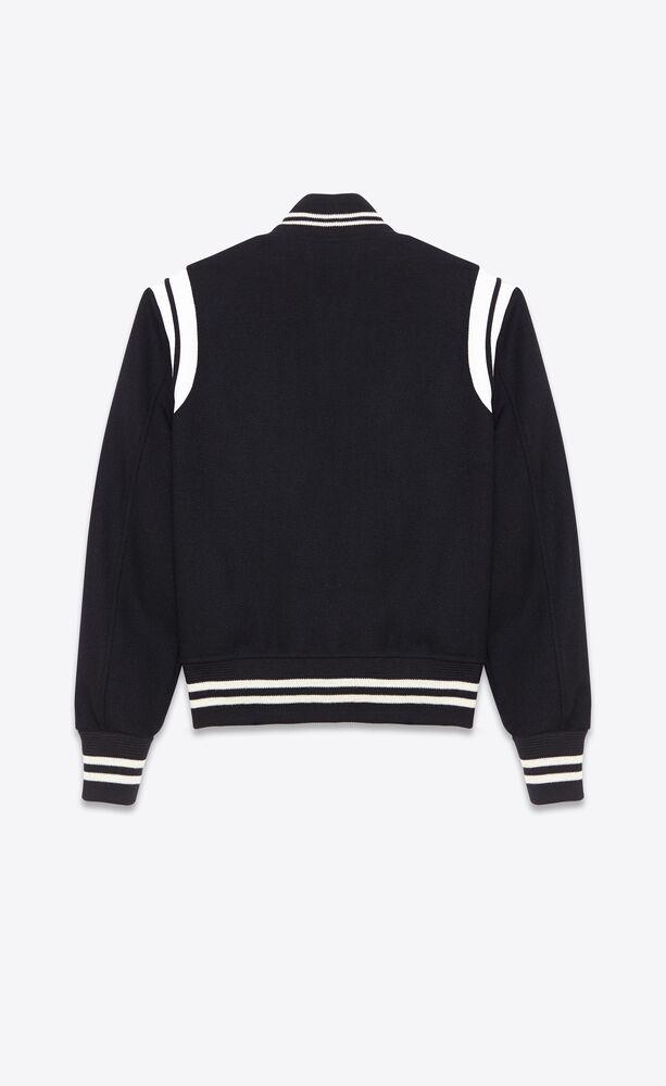saint laurent teddy jacket in wool