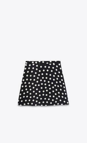 mini-jupe en sablé à pois