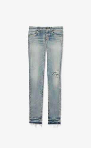 low-rise jeans in light fall blue denim