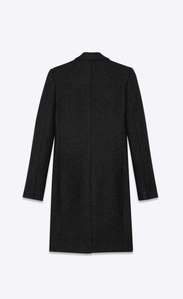 manteau chesterfield en laine diagonale 50's