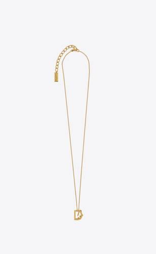 letter d pendant necklace in 18k gold