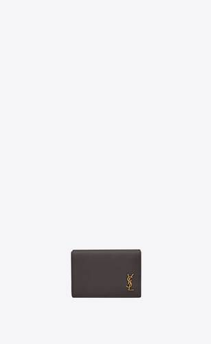 tiny monogram origami tiny wallet in grained leather