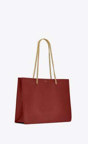 shopping chain bag medium in smooth leather