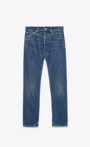 authentische jeans aus denim in rain blue