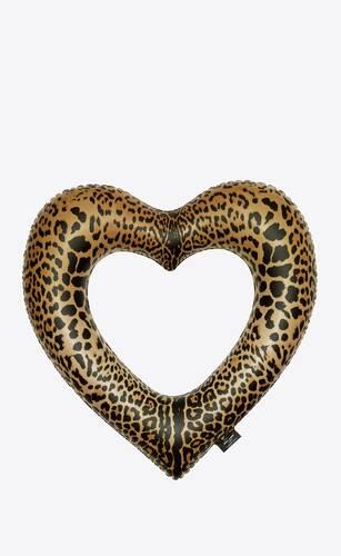 leopard heart float