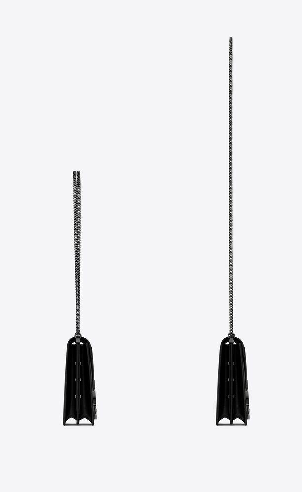 cassandra monogram ledertasche mit schnalle und grain-de-poudre-prägung