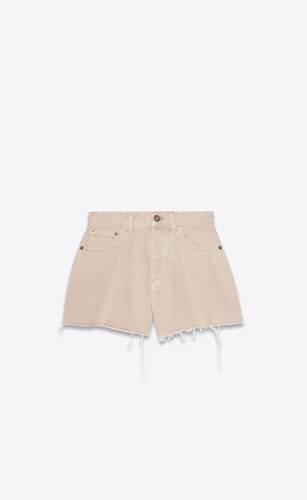 vintage shorts in sand denim