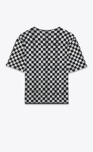 saint laurent checkerboard t-shirt