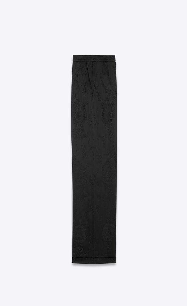 wide-leg pants in baroque jacquard