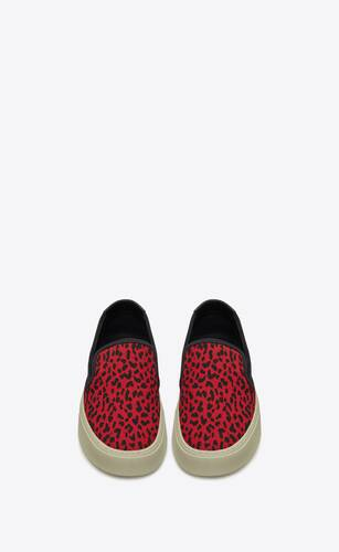 venice slip-on sneakers in babycat printed canvas