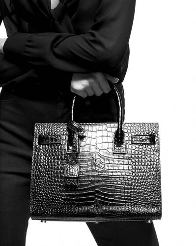 classic sac de jour baby in crocodile embossed matte leather