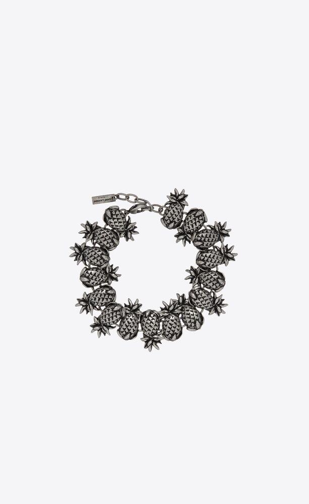 ananas-gliederarmband aus metall