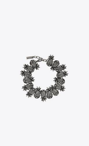 pineapple link bracelet in metal