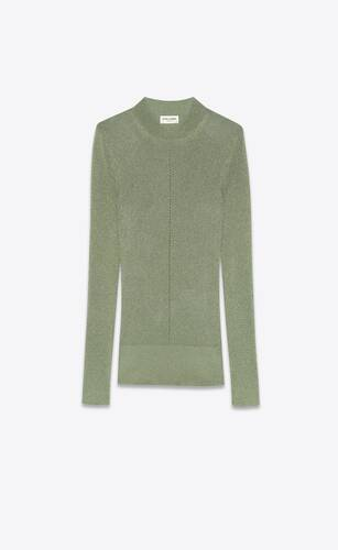 sweater in ribbed lurex