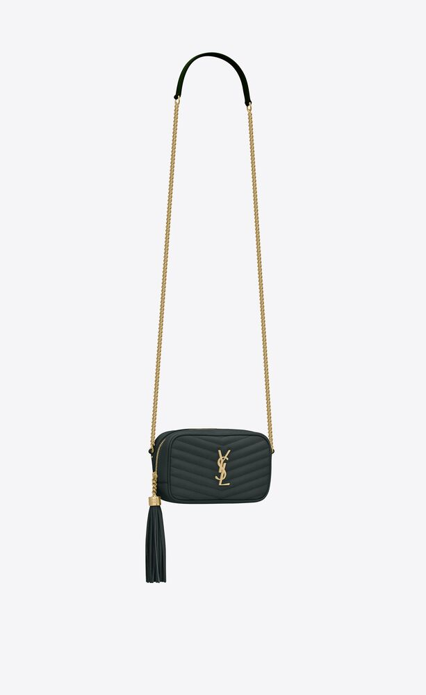 lou mini bag in quilted grain de poudre embossed leather