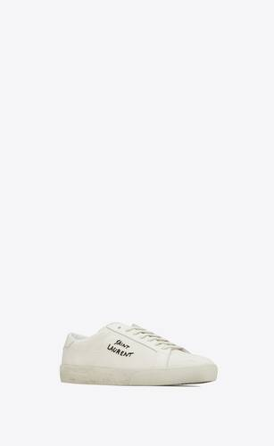 court classic sl/06 embroidered sneakers in fabric and leather