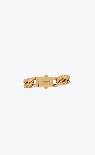 bracelet chaîne à maillons lèvres en métal