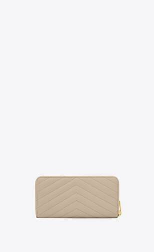 monogram zip around wallet in grain de poudre embossed leather