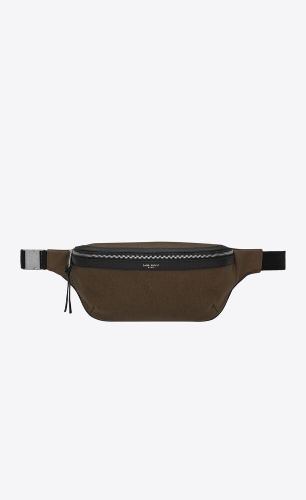 classic sac ceinture en toile et cuir