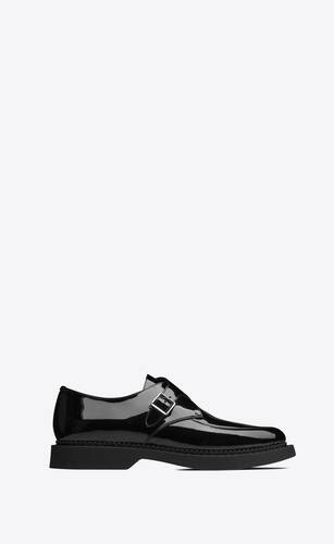 teddy monkstraps in patent leather