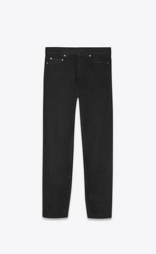 jeans carrot-fit in denim effetto vissuto nero