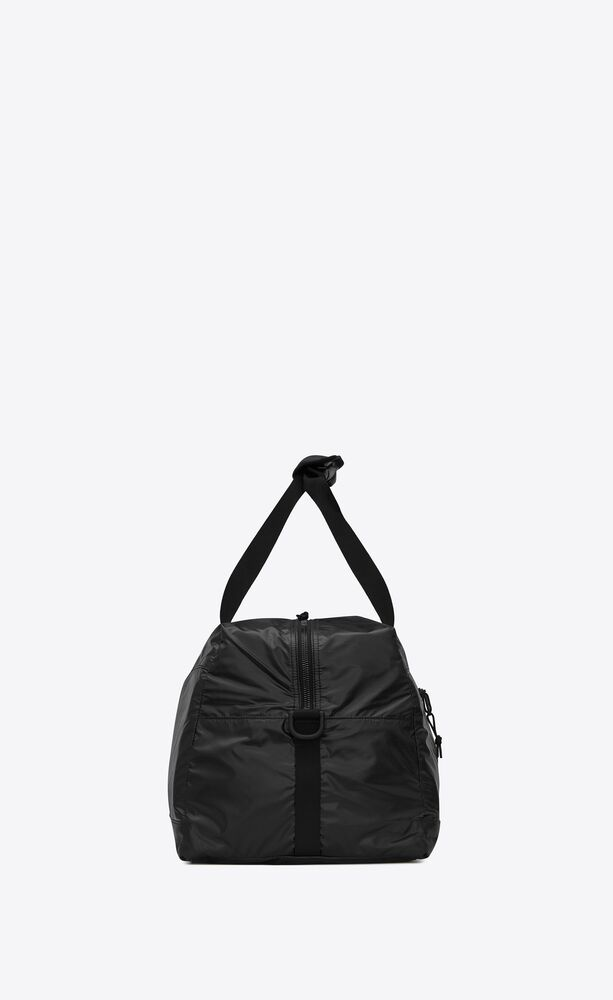 nuxx duffle bag in nylon with a saint laurent print