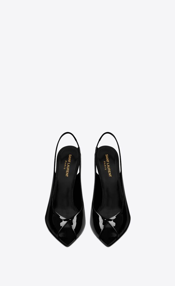 lui slingback sandals in patent leather