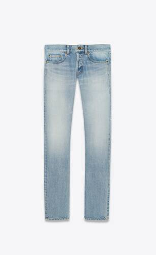 slim-fit jeans in hawaii blue denim