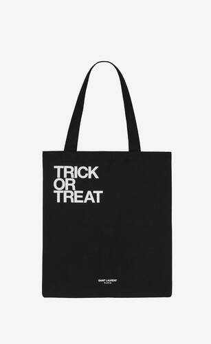 """trick or treat"" totebag"