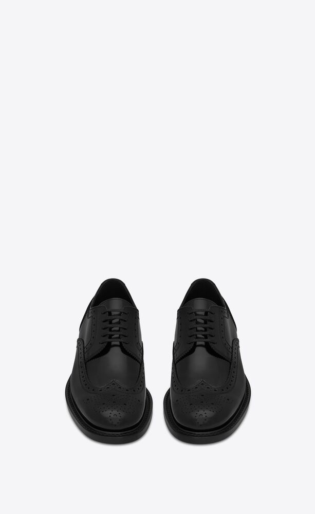 army derbies in perforated leather