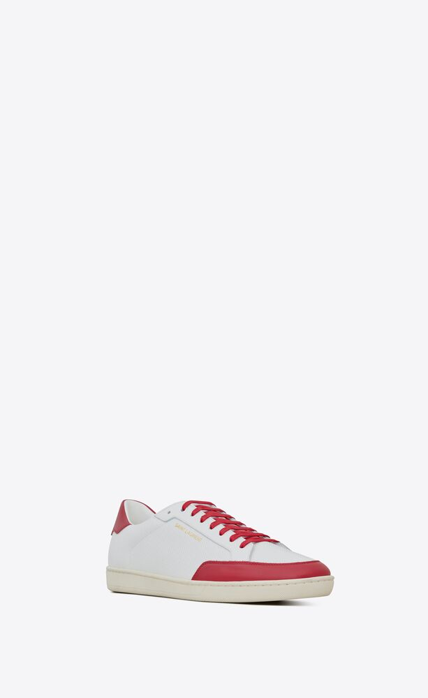 court classic sl/10 sneakers in perforated and grained leather