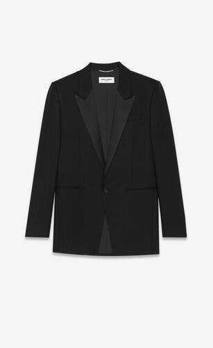 single-breasted jacket in matte & shiny graphic motif