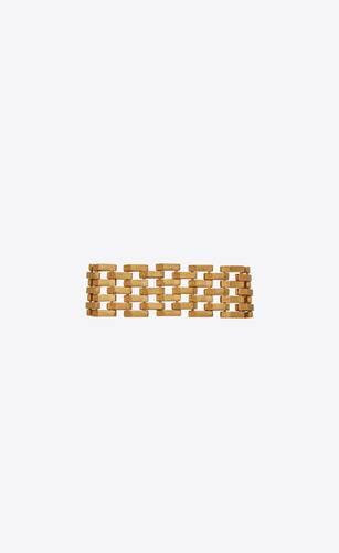 bracelet chaîne tissée en or jaune 18 carats