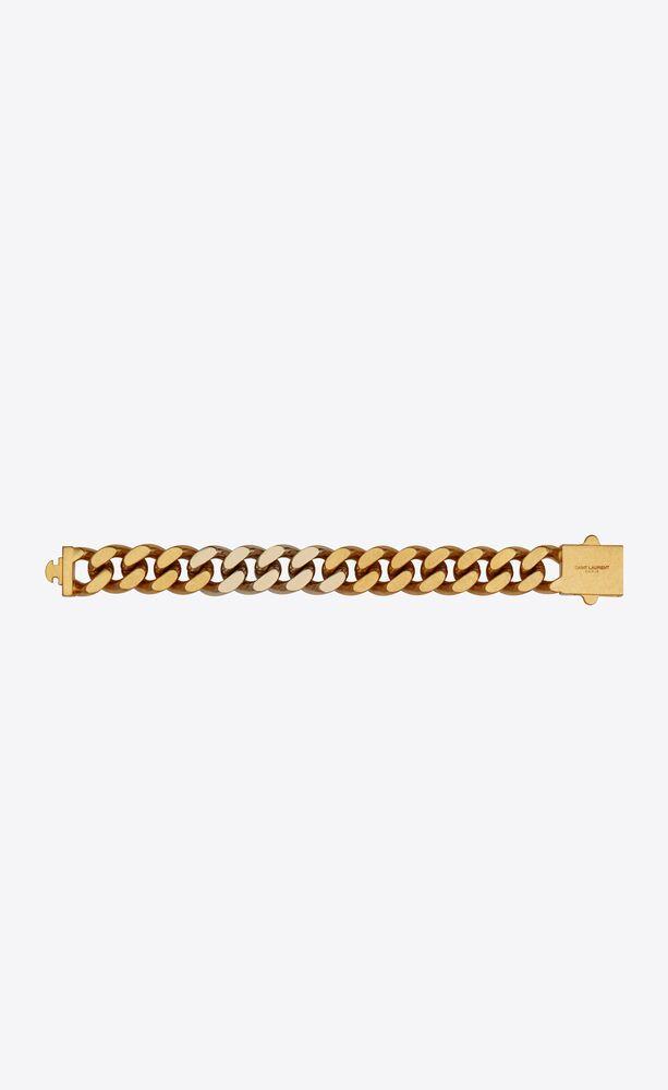two-tone chain bracelet in metal