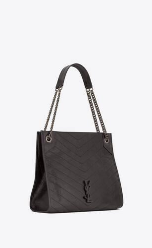 niki medium shopping bag in crinkled vintage leather