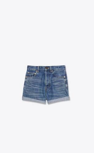 slim-fit shorts in authentic dark blue denim