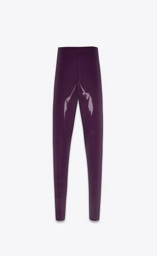 hoch geschnittene latex-leggings