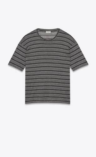 camiseta estilo surfista de punto con motivo de rayas
